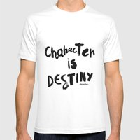 Character Is Destiny - Heraclitus Mens Fitted Tee White SMALL