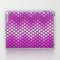 Dot Chevron: Pink Plum Laptop & iPad Skin