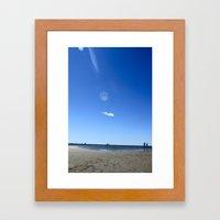 Blue Memory Framed Art Print