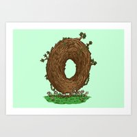 The Natural Donut Art Print