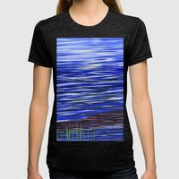 Ocean  Womens Fitted Tee Tri-Black SMALL