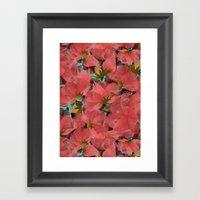 Translucent Floral Framed Art Print
