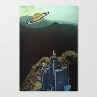 Climbing Towers To Get O… Canvas Print