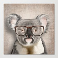 A Baby Koala With Glasse… Canvas Print