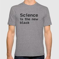 SCIENCE is the new BLACK (shirt) Mens Fitted Tee Athletic Grey SMALL
