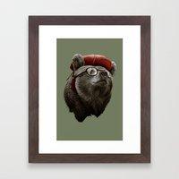 HANDSOME BEAR Framed Art Print