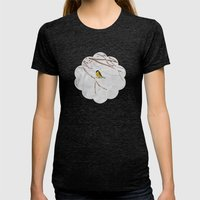 Tit And The Snow. Womens Fitted Tee Tri-Black SMALL