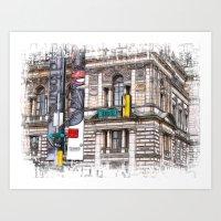 15th street Glasow Art Print