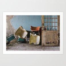 Asylum Chairs Art Print