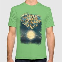 The Rising Moon  Mens Fitted Tee Grass SMALL