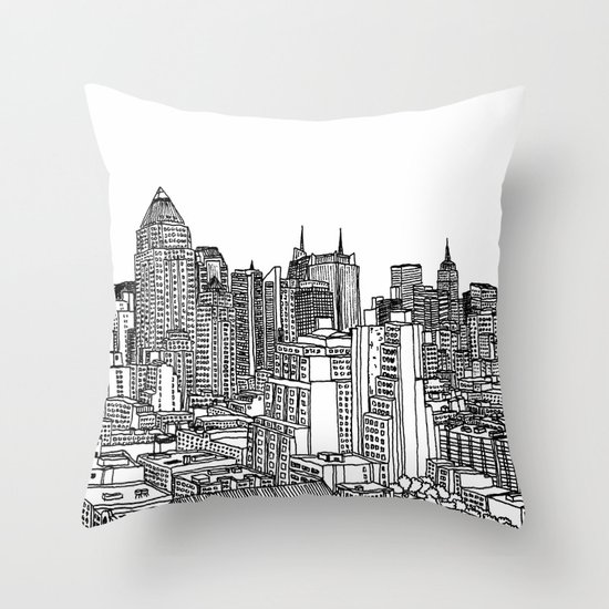 New York View 2 Throw Pillow