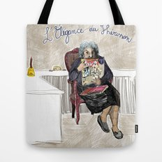 L'élégance du hérisson (Muriel Barbery)- COVERS OF BOOKS THAT NOBODY ASKED ME TO ILLUSTRATE N.1 Tote Bag