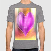 Colorful Heart Mens Fitted Tee Tri-Grey SMALL