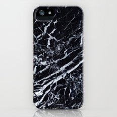 Real Marble Black iPhone (5, 5s) Slim Case