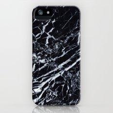 Real Marble Black iPhone (5, 5s) Slim Case