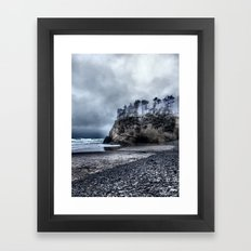 Lonely Beach II Framed Art Print