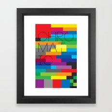 Chromatic Poster Framed Art Print