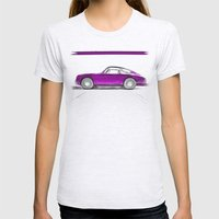 Porsche 911 / III Womens Fitted Tee Ash Grey SMALL