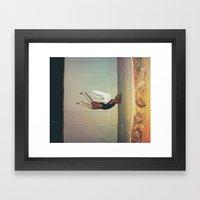 Sometimes You Hit A Wall… Framed Art Print