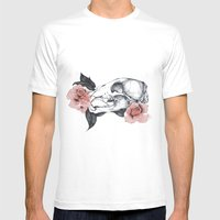 Life&Death Mens Fitted Tee White SMALL