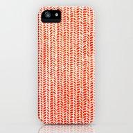 Stockinette Orange iPhone (5, 5s) Slim Case