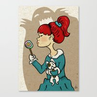 candy monster Canvas Print