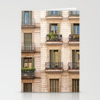 Barcelona Balcony In Gre… Stationery Cards