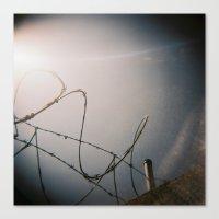Razor Wire Canvas Print