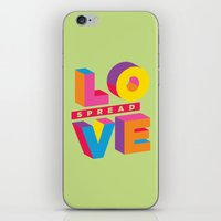 Spread Love iPhone & iPod Skin