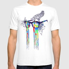 Technicolor Vision Mens Fitted Tee SMALL White
