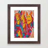 - rabbits - Framed Art Print