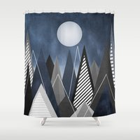 Midnight Mountains Shower Curtain
