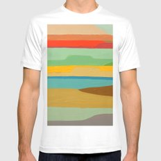 baja SMALL White Mens Fitted Tee