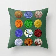 Pattern Circles #4 Throw Pillow