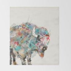 into the wild the buffalo Throw Blanket