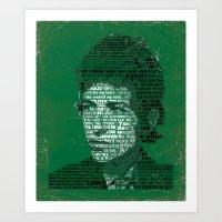 Typographic Icons - Bob … Art Print