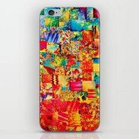 PAINTING THE SOUL - Vibrant Collage Mixed Abstract Acrylic Watercolor Painting Rainbow Colorful Art iPhone & iPod Skin