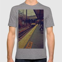 Here We Go Mens Fitted Tee Athletic Grey SMALL