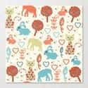 Elephants pattern #5 Canvas Print