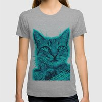 Feral cat Womens Fitted Tee Athletic Grey SMALL