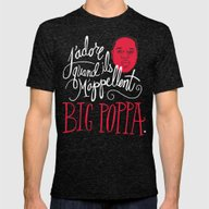 French Poppa Mens Fitted Tee Tri-Black SMALL