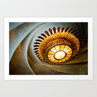 Gaudi's Chandelier At Ca… Art Print
