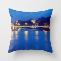 Paris by Night I Throw Pillow