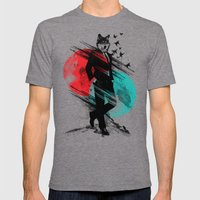 Wolfman Mens Fitted Tee Tri-Grey SMALL