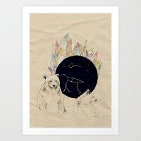 big bear, little bear Art Print