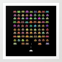 Fashionable Invaders Art Print