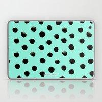 Turq Black Dot Watercolo… Laptop & iPad Skin