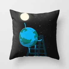 Reach the moon Throw Pillow
