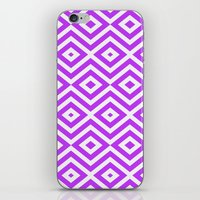 Purple Diamonds iPhone & iPod Skin