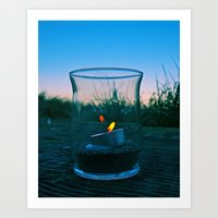 Seaside flame Art Print